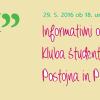 """<a href=""""http://www.ksopp.si/informativni-obcni-zbor-kluba-studentov-obcin-postojna-in-pivka/"""">Informativni občni zbor Kluba študentov občin Postojna in Pivka</a><span>To nedeljo, 29. 5., bo v Mladinskem centru Postojna ob 18.00 informativni občni zbor Kluba študentov občin Postojna in Pivka. Predstavljeno bo: vsebinsko in finančno poročilo za leto 2015, vsebinsko</span>"""